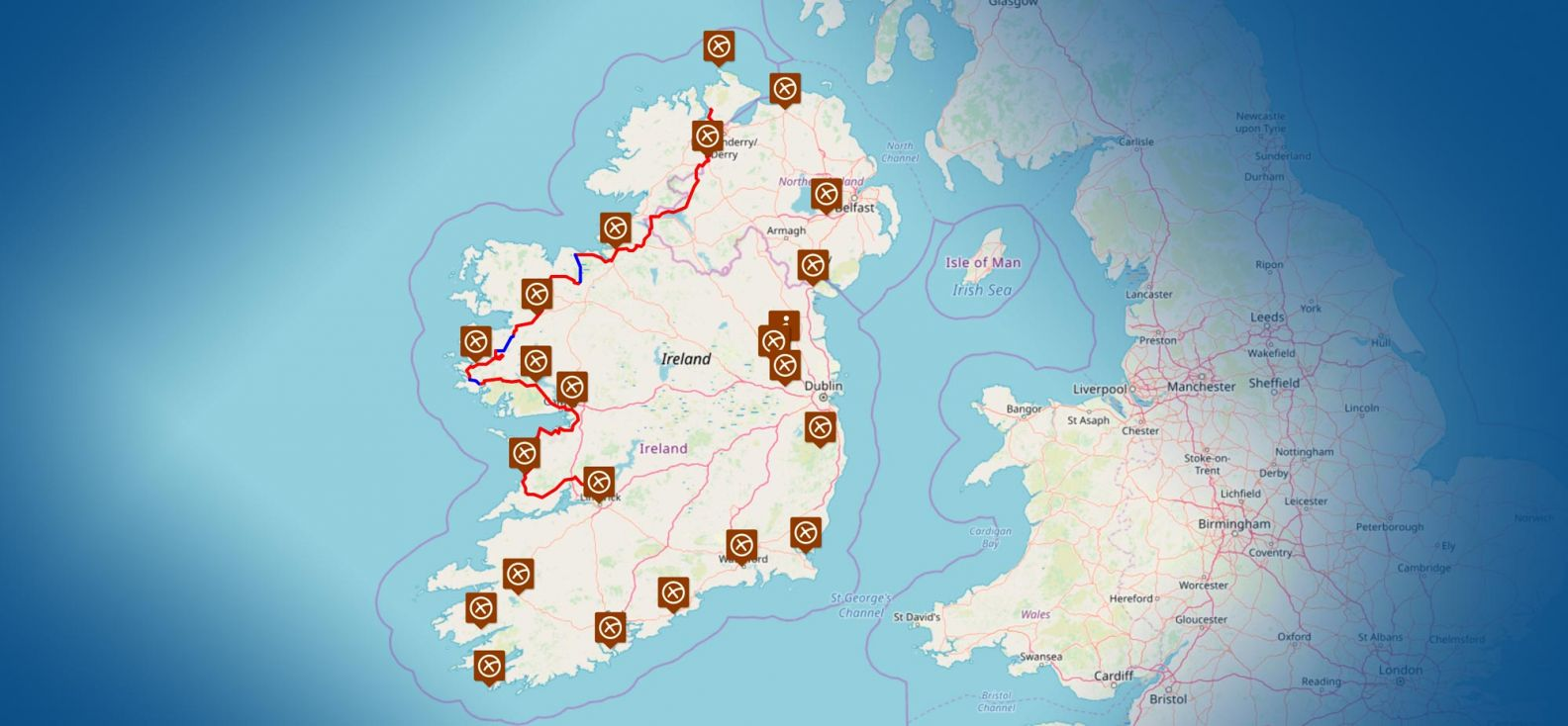 The Race Around Ireland Map